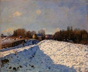 Alfred Sisley - The Effect of Snow at Argenteuil