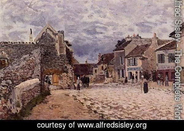 Alfred Sisley - Village Street - Grey Weather