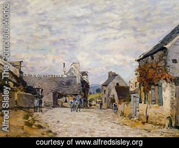 Alfred Sisley - Village Street - Louveciennes