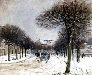 Alfred Sisley - Road from Saint-Germain to Marly