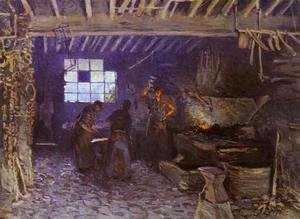 Alfred Sisley - Forge at Marly-le-Roi