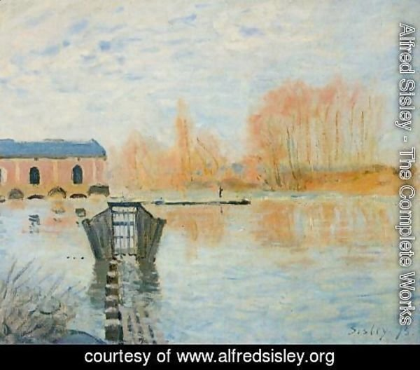 Alfred Sisley - The Marly Machine and the Dam