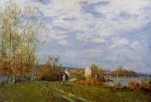 Alfred Sisley - Banks of the Seine at Bougival