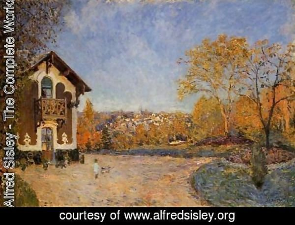 Alfred Sisley - View of Marly-le-Roi from House at Coeur-Colant