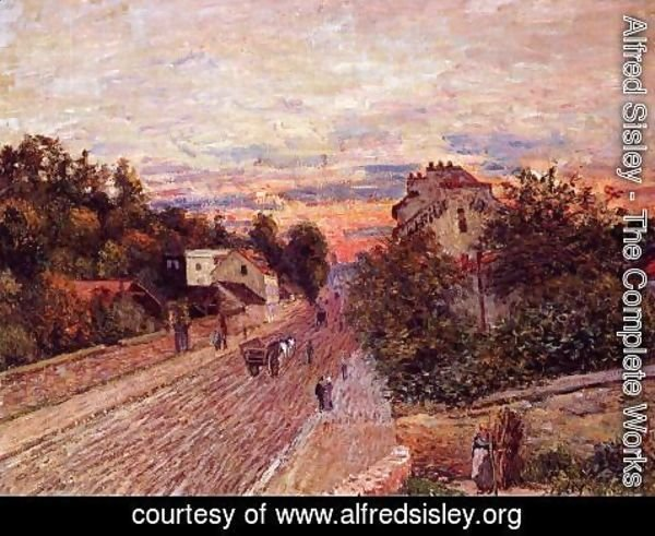 Alfred Sisley - Sunset at Port-Marly