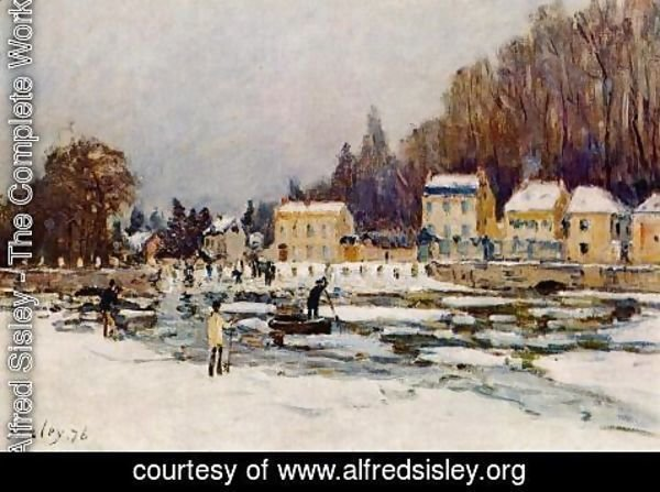 Alfred Sisley - The Blocked Seine at Port-Marly