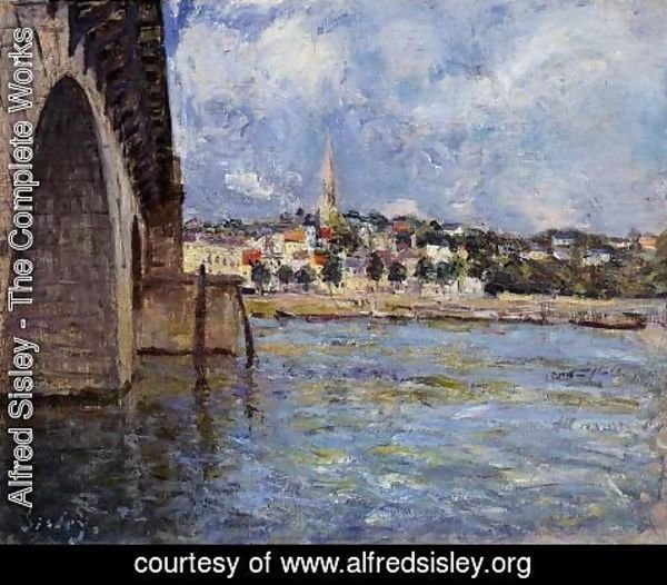 Alfred Sisley - The Bridge at Saint-Cloud