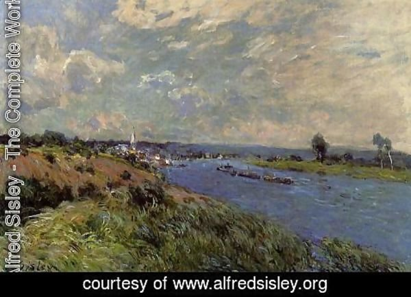 Alfred Sisley - The Seine at Saint-Cloud