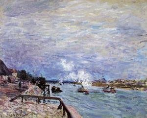 Alfred Sisley - The Seine at Grenelle - Rainy Wether