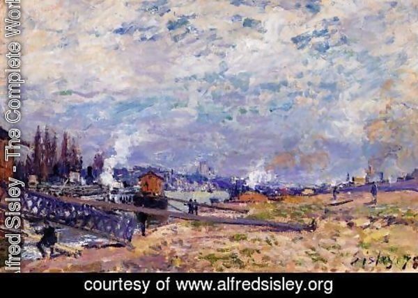 Alfred Sisley - The Seine at Grenelle