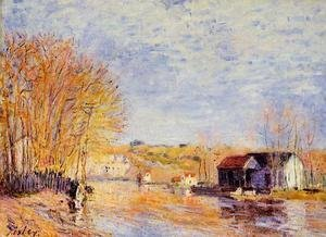 Alfred Sisley - High Waters at Moret-sur-Loing