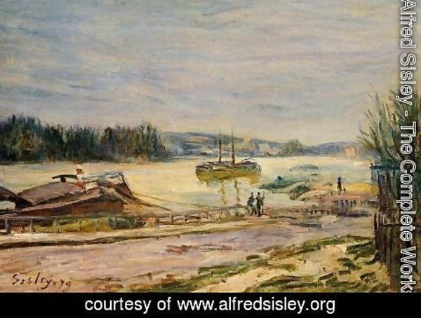 Alfred Sisley - The Seine near Saint-Cloud, High Water