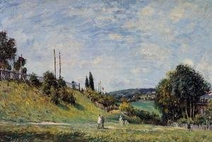 Alfred Sisley - Railroad Embankment at Sevres