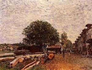 Alfred Sisley - Construction Site at Saint-Mammes
