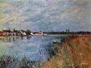 Alfred Sisley - Riverbank at Saint-Mammes