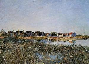 Alfred Sisley - View of Saint-Mammes