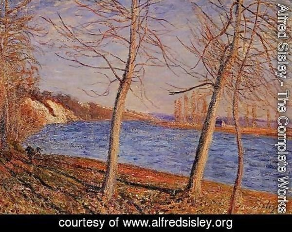 Alfred Sisley - Riverbank at Veneux