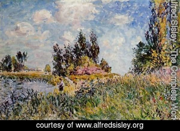 Alfred Sisley - Landscape - The Banks of the Loing at Saint-Mammes