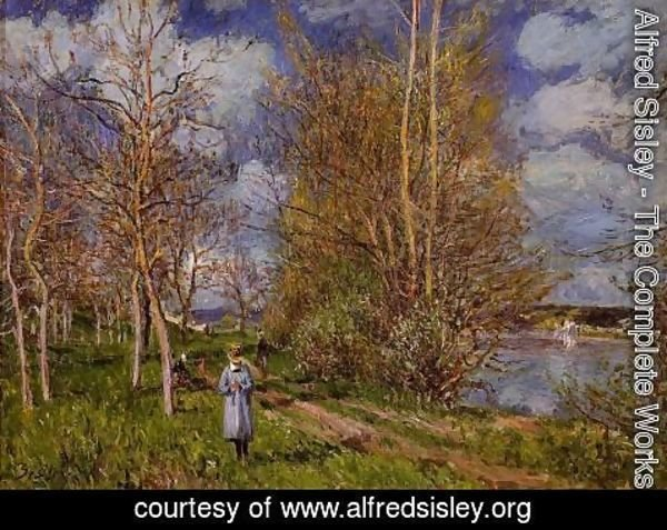 Alfred Sisley - The Small Meadow In Spring - By