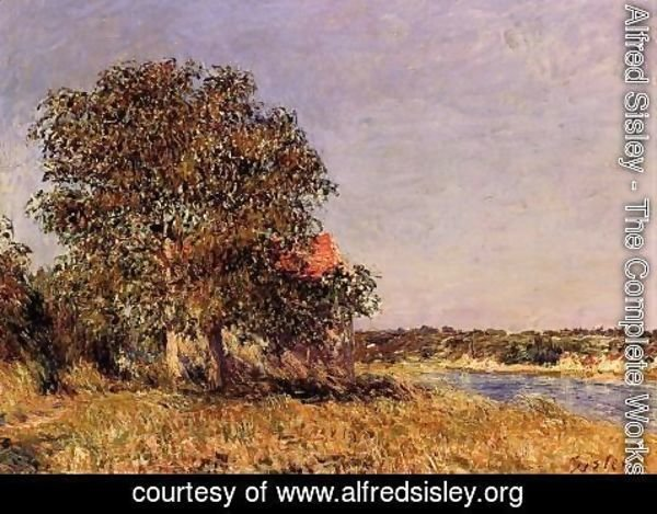 Alfred Sisley - The Plain of Thomery and the Village of Champagne