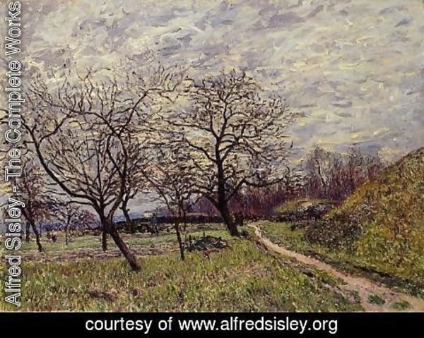 Alfred Sisley - Between Veneux and By - December Morning