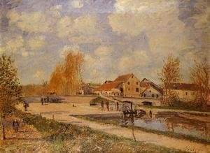 Alfred Sisley - The Bourgogne Lock at Moret, Spring