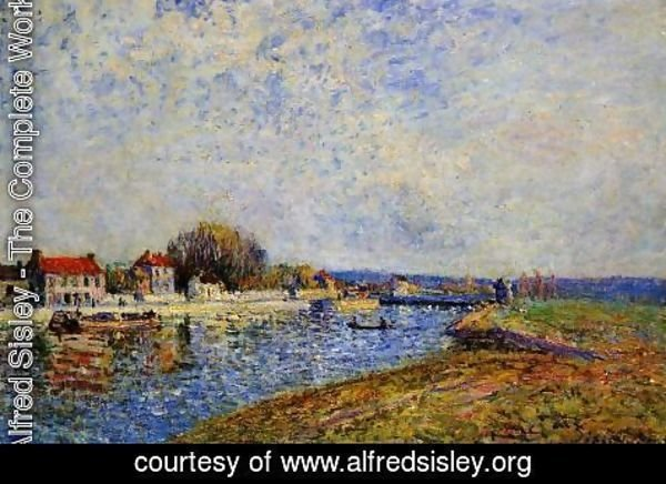 Alfred Sisley - The Dam, Loing Canal at Saint-Mammes