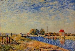 Alfred Sisley - The Loing Canal I