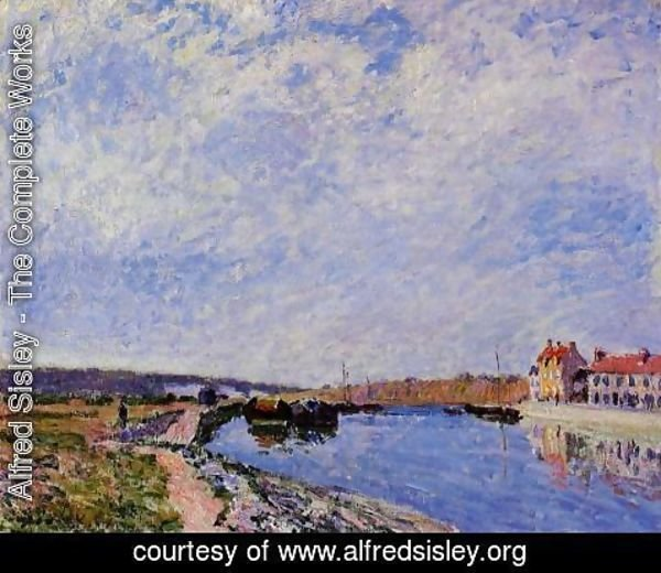 Alfred Sisley - The Barge Port and Saint-Mammes