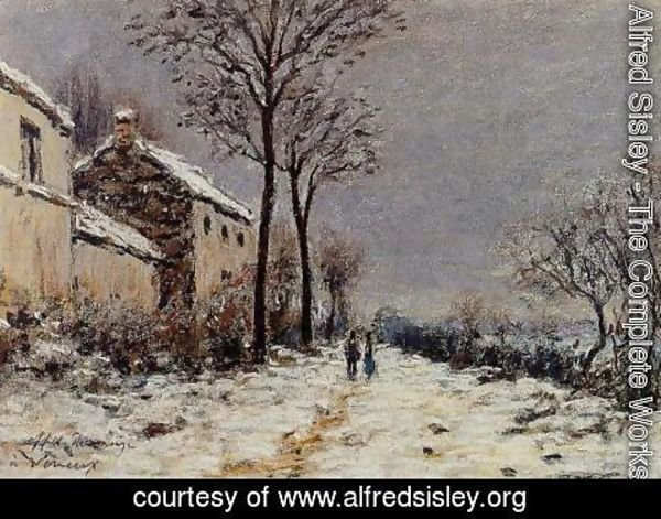 Alfred Sisley - The Effect of Snow at Veneux