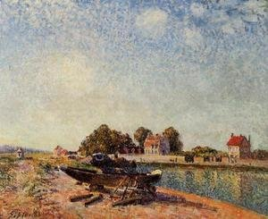Alfred Sisley - The Loing at Saint-Mammes II