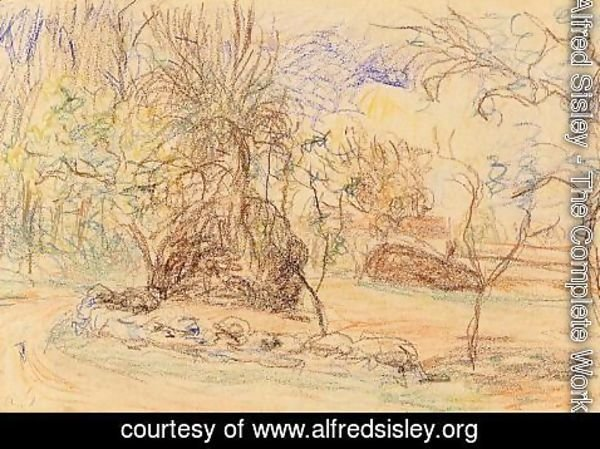 Alfred Sisley - Orchard