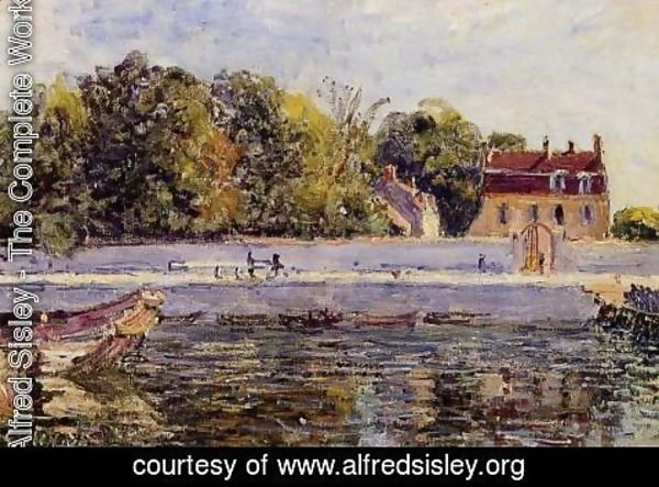 Alfred Sisley - Saint-Mammes - House on the Canal du Loing