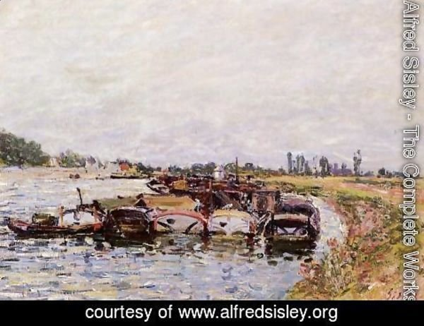 Alfred Sisley - Barge Garage at Saint-Mammes