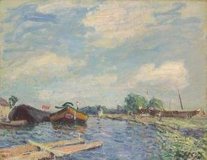 Alfred Sisley - The Canal at Saint-Mammes