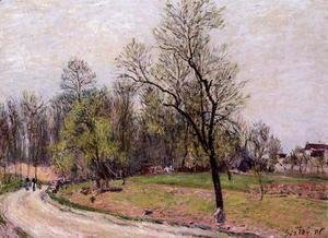 Alfred Sisley - Edge of the Forest in Spring, Evening