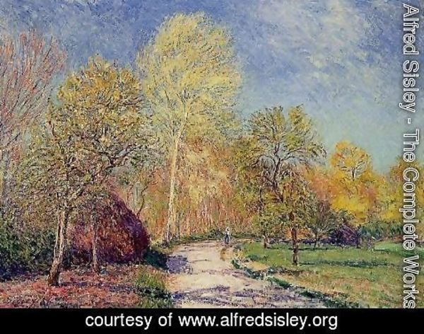 Alfred Sisley - A May Morning in Moret