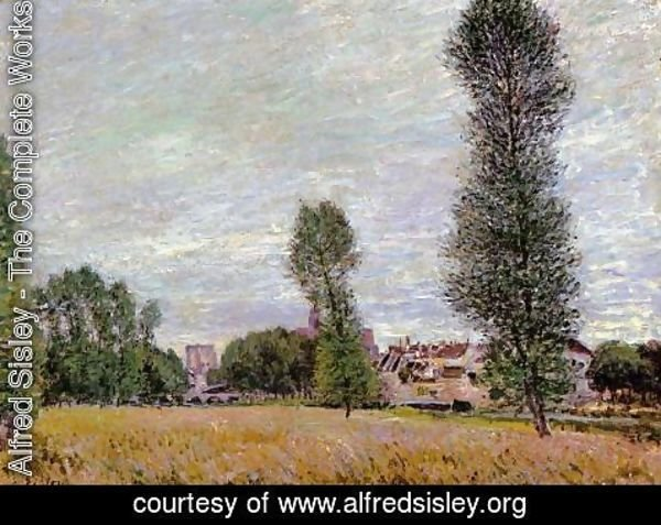 Alfred Sisley - The Village of Moret, Seen from the Fields