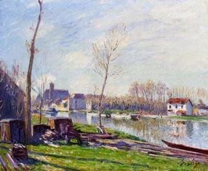Alfred Sisley - Construction Site at Matrat, Moret-sur-Loing