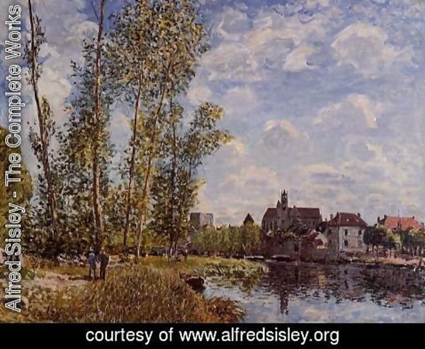 Alfred Sisley - Moret, View from the Loing, May Afternoon