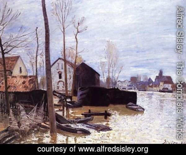 Alfred Sisley - Flooding at Moret