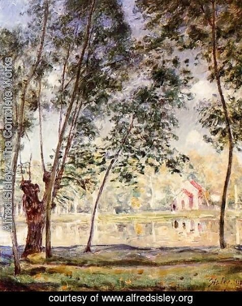 Alfred Sisley - Sunny Afternoon - Willows by the Loing
