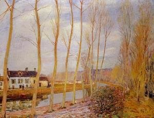 Alfred Sisley - The Loing Canal at Moret