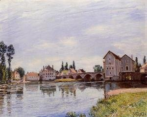 Alfred Sisley - The Loing Flowing under the Moret Bridge