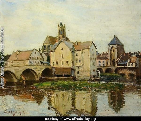 Moret-sur-Loing, Morning