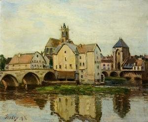 Alfred Sisley - Moret-sur-Loing, Morning