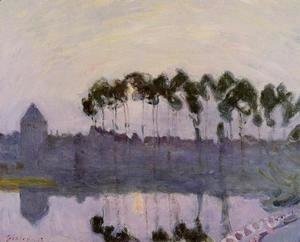 Alfred Sisley - Setting Sun at Moret