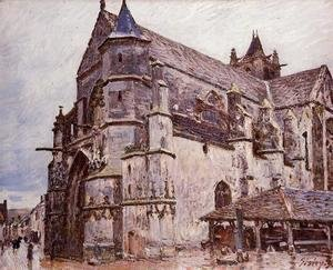 Alfred Sisley - The Church at Moret, Rainy Weather, Morning