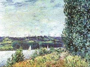 Alfred Sisley - Banks of the Seine, Wind Blowing