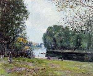 Alfred Sisley - A Turn of the River Loing, Summer